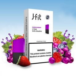 J Fit Purple Berry Pods Compatible With JUUL Device