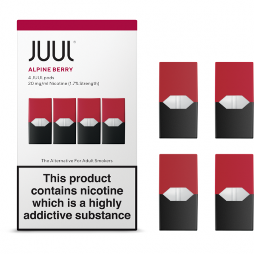 1.7% Juul Alpine Berry Vape Pod Cartridge in India