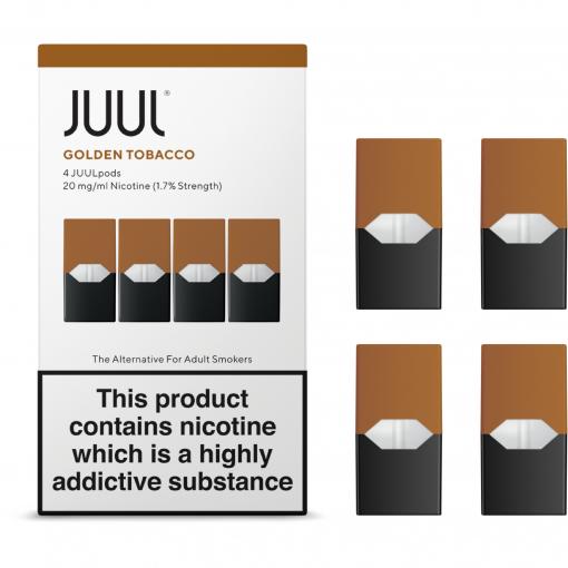 1.7% Juul Golden Tobacco Vape Pod Cartridge in India