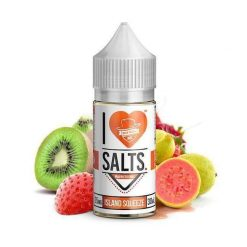 Mad Hatter I Love Salts Island Squeeze (Strawberry, Kiwi, Guava) Nic Salt E liquid